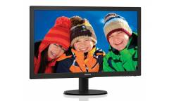 "Монитор Philips 23.6"" 243V5LHAB (00/01) черный TN+film LED 5ms 16:9 DVI HDMI M/M матовая 250cd 1920x1080 D-Sub FHD 3.66кг"