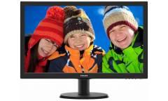 "Монитор Philips 23.6"" 243V5QSBA (00/01) черный VA LED 16:9 DVI матовая 250cd 178гр/178гр 1920x1080 D-Sub FHD 3.66кг"
