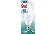 Светодиодная (LED) Лампа Smartbuy-C37-9,5W/3000/E14