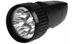 Фонарь SmartBuy аккумуляторный светодиодный 5 LED с прямой зарядкой чёрный