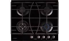 Варочная поверхность газовая Lanova G 16301-510 T черное стекло автоподж, газконтроль,вок конф cтаймером ч/р