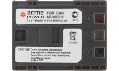 Аккумулятор для компактных камер и видеокамер AcmePower NB-2LH для: Canon PowerShot G7/G9/S30/S40/S45/S50/S60/S70/S80/EOS 350D/400D/Rebel XT/MV-5i/5iMC/6iMC/790