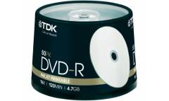 Диск DVD-R TDK 4,7GB 16х CB/50