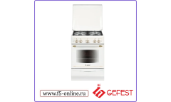 Плита Газовая Gefest ПГ 5100-02 0185 белый реш.чугун