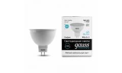 Лампа светодиодная GAUSS _MR16_9W/4100K_GU5.3 _220вольт