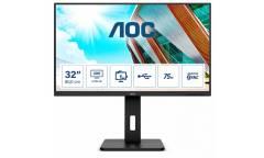 "Монитор AOC 31.5"" Value Line Q32P2 черный IPS LED 16:9 HDMI M/M матовая HAS Pivot 250cd 178гр/178гр 2560x1440 DisplayPort QHD USB 9.5кг"