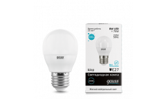 Лампа светодиодная GAUSS _G45_8W/4100K_E27 _шар
