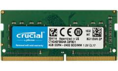 Память DDR4 4Gb 2400MHz Crucial CT4G4SFS824A RTL PC4-19200 CL17 SO-DIMM 260-pin 1.2В single rank