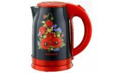 Чайник электрический Росинка РОС-1013 Маки, 1,8л. нерж сталь