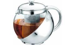 Чайник заварочный IRIT KTZ-075-021 стекло/металл 0,75л