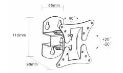 "Кронштейн для телевизора Arm Media LCD-101 черный 10""-26"" макс.30кг настенный поворот и наклон"