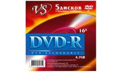 Диск DVD-RW Vs 4,7GB 4x конверт/5