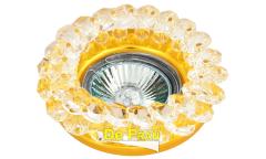 Светильник точечный_DE FRAN_ FT 860 MR16 золото+прозрачный