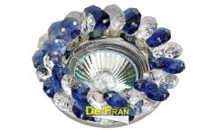 Светильник точечный_DE FRAN_ FT 860 MR16 хром+синий