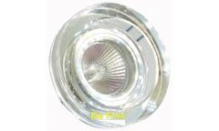 Светильник точечный_DE FRAN_ FT 890 MR16 круг хром+зеркальный прозрачный