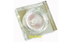 Светильник точечный_DE FRAN_ FT 891 MR16 квадрат хром+зеркальный прозрачный