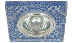 Светильник точечный_DE FRAN_ FT 768 MR16  хром+серебрянный узор