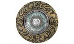 Светильник точечный_DE FRAN_ FT 182AK GAB MR16 зел.античное золото