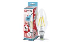 Лампа светодиодная ASD LED-СВЕЧА-deco 7Вт 230В Е14 4000К 630Лм прозрачная IN HOME