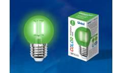 Лампа светодиодная UNIEL COLOR LED-G45-5W/GREEN/E27 GLA02GR зелёная