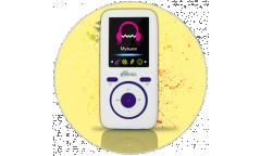 Портативный цифровой плеер Ritmix RF-4450 4Gb белый/фиолетовый