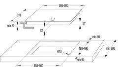 Индукционная варочная поверхность Gorenje IK640CLI черный