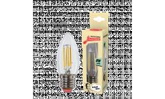 Светодиодная (LED) Лампа FIL (прозрачная) ЭКО_Экономка-C37-08W/4500/E27 _свеча