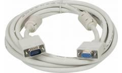 Кабель-удлинитель Ningbo VGA (m) VGA (f) 3м феррит.кольца серый