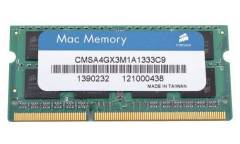 Память DDR3 4Gb 1333MHz Corsair CMSA4GX3M1A1333C9 RTL PC3-10600 CL9 SO-DIMM 204-pin 1.5В