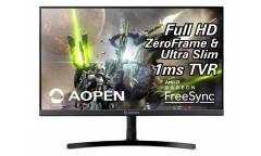 """Монитор Aopen 23.8"""" 24ML2Ybix черный IPS LED 1ms 16:9 HDMI матовая 250cd 178гр/178гр 1920x1080 D-Sub FHD 2.86кг"""