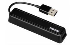 Разветвитель USB 2.0 Hama 12167 4порт. черный (00012167)