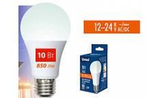Лампа светодиодная Uniel низковольтная LED-A60-10W/NW/4000K/E27/FR/12-24V