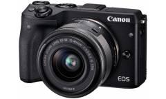 """Фотоаппарат Canon EOS M3 черный 24Mpix 3"""" 1080p WiFi 15-45 IS STM f/ 3.5-6.3 LP-E17"""