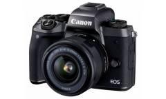 """Фотоаппарат Canon EOS M5 черный 24Mpix 3"""" 1080p WiFi 15-45 IS STM f/ 3.5-6.3 LP-E17"""