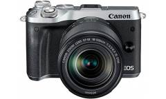 "Фотоаппарат Canon EOS M6 серебристый 24.2Mpix 3"" 1080p WiFi 18-150 IS STM f/ 3.5-6.3 LP-E17"