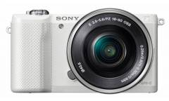 "Фотоаппарат Sony Alpha A5000LW белый 20.1Mpix 3"" 1080p WiFi E PZ 16-50 мм F3.5-5.6 OSS NP-FW50"