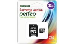 MicroSDHC флэш-накопитель 32GB Class 10 Perfeo Economy Series