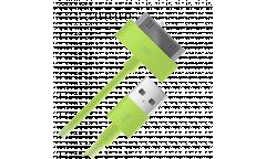 Кабель USB Ab для Apple iPhone 4 30-pin нейлоновый (зеленый)