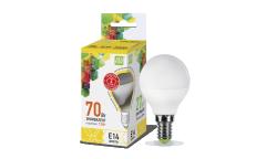 Лампа светодиодная ASD LED-ШАР-standard 7.5Вт 160-260В Е14 3000К 675Лм