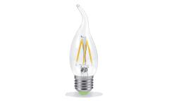 Лампа светодиодная ASD LED-СВЕЧА НА ВЕТРУ-PREMIUM 5Вт 160-260В Е27 3000К 450Лм прозрачная