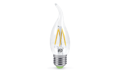 Лампа светодиодная ASD LED-СВЕЧА НА ВЕТРУ-PREMIUM 5Вт 160-260В Е27 4000К 450Лм прозрачная