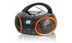 Магнитола BBK BX100U черная/оранжевая