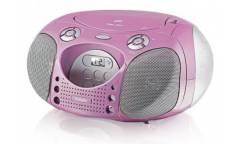 Магнитола BBK BX110U розовая/серебристая