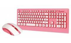 Комплект клавиатура+мышь Smartbuy Wireless SBC-303319AG розовый
