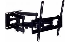 """Кронштейн для телевизора Kromax PIXIS-L черный 22""""-65"""" макс.50кг настенный поворот и наклон"""