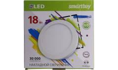 Накладной (LED) светильник Round SDL Smartbuy-18w/4000K/IP20 _круг d210_h28