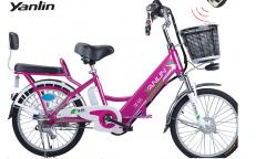 Электровелосипед Yanlin 168 Pink