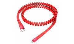 Кабель USB Hoco U78 Cotton treasure elastic charging data cable for Lightning Red