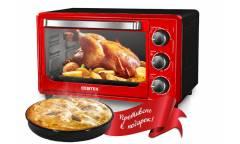 Мини-печь Centek CT-1537-30 RED красный 30л 1600Вт +противень, таймер 90мин, 4 реж., max 320°