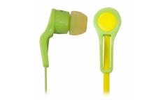 Наушники Ritmix RH-014 внутриканальные зеленожелтые